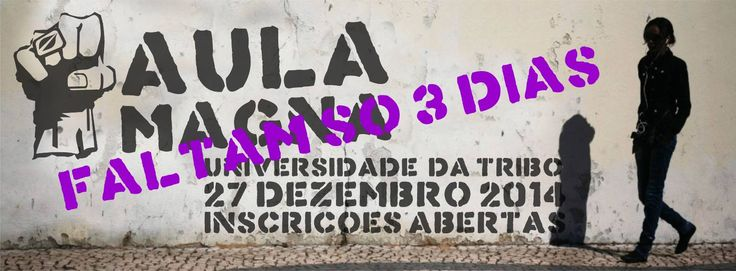 Faltam apenas 3 Dias para o Grande evento da Aula Magna. As inscrições estão a fechar. Mais informações em: http://brunopatricialima.com/e/aula_magna