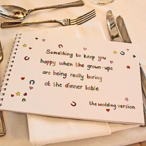 The Wedding of My Dreams - Children's Wedding Activity Book - Something To Keep Children Happy When Grown Ups Are Boring At The Dinner Table #wedding