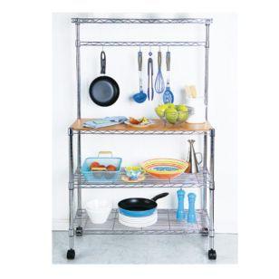 Sm estanter a de metal cromada con 3 estantes casa telmo - Estanterias metalicas para casa ...