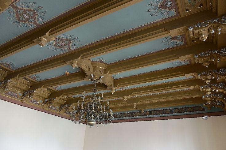 """Casa Teodor Cincu (sf. sec. XIX) - detaliu interior, Muzeul de Istorie """"Teodor Cincu"""", Strada 1 Decembrie 1918 36, Tecuci"""