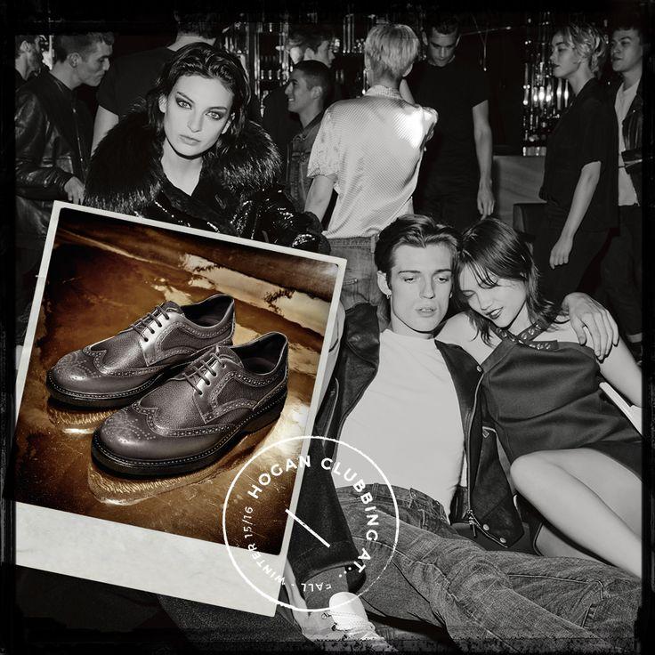 #HOGAN Men's Route H217 brogue shoes in smooth leather. #HoganClub #HoganClubbingAt