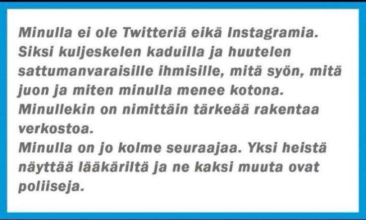 Huomenta hyvää :) Kaikki eivät ole vielä twitterissä, tässä heidän selitys: