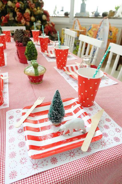 Ideia Criativa para mesinha infantil decorada para o Natal, por Bella Fiore Criative idea to children's table decorated for Christmas, Bella Fiore Production