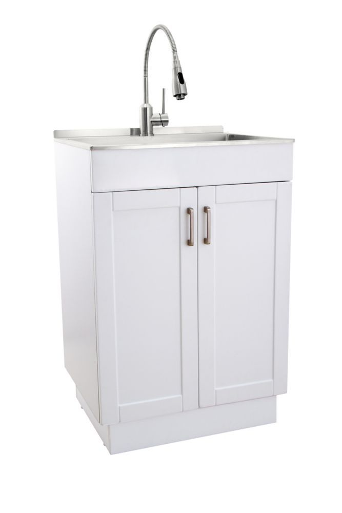 All In One Laundry Sink And Cabinet Laundry Sink Vanity Basin