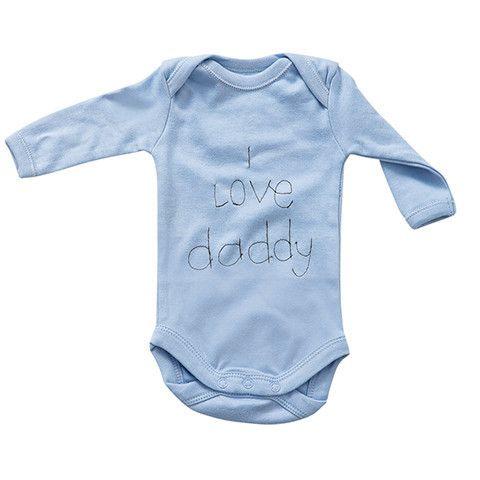 """Crystal & Cloth Slogan Onesie - """"I love mommy"""" & """"I love daddy"""""""