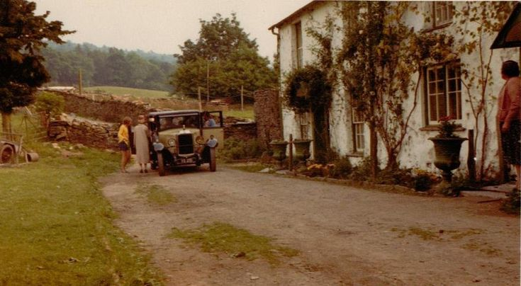 Arriving at the farm Arthur Ransome called Holly Howe ~ in reality Bank Ground Farm near Coniston in the Lake District where SWALLOWS & AMAZONS was filmed in 1973.