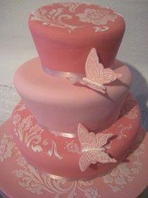 wedding cake: Dusty pink