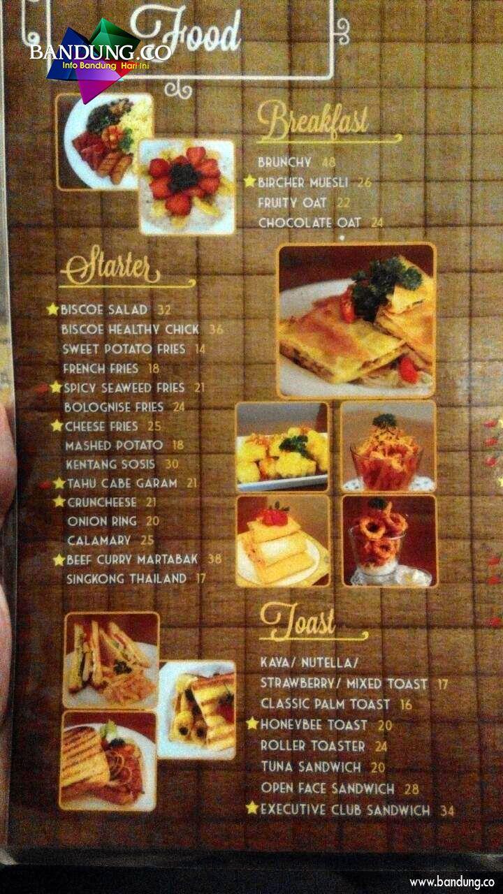 Menu Biscoe Bandung