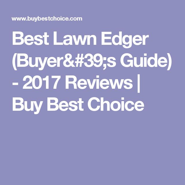 Best Lawn Edger (Buyer's Guide) - 2017 Reviews | Buy Best Choice