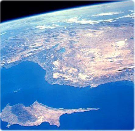 Island of #Cyprus, from space. #ayianapamarina