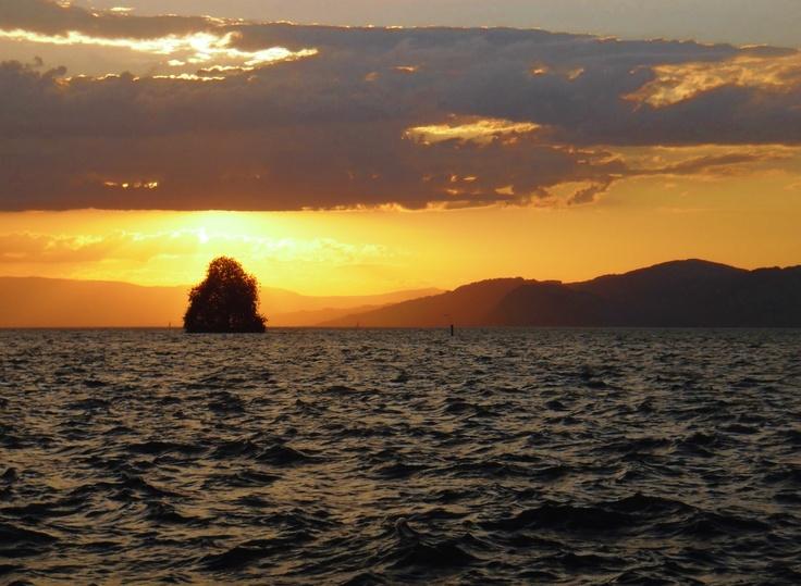 Lake Geneva, taken from Villeneuve, Switzerland