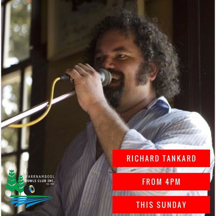 Don't forget we have Richard Tankard playing today from 4pm. Come down for some great music and some $4 schooners of beer and cider. If you ain't in the mood for beer and cider we also have $7 coffee and cake to warm you up. See you all at 4pm #richardtankard #warrnamboolbowls #live3280 #music3280 #sundaysessions3280 #sundayfunday #live3280 #coffee3280 #$4schooners by warrnamboolbowls