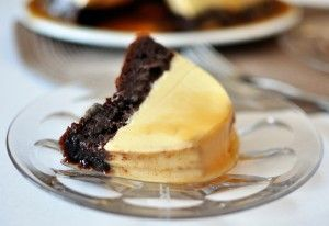 Chocolate Flan Cake {i.e. Magic Chocoflan!}                 Cooks Country Recipe
