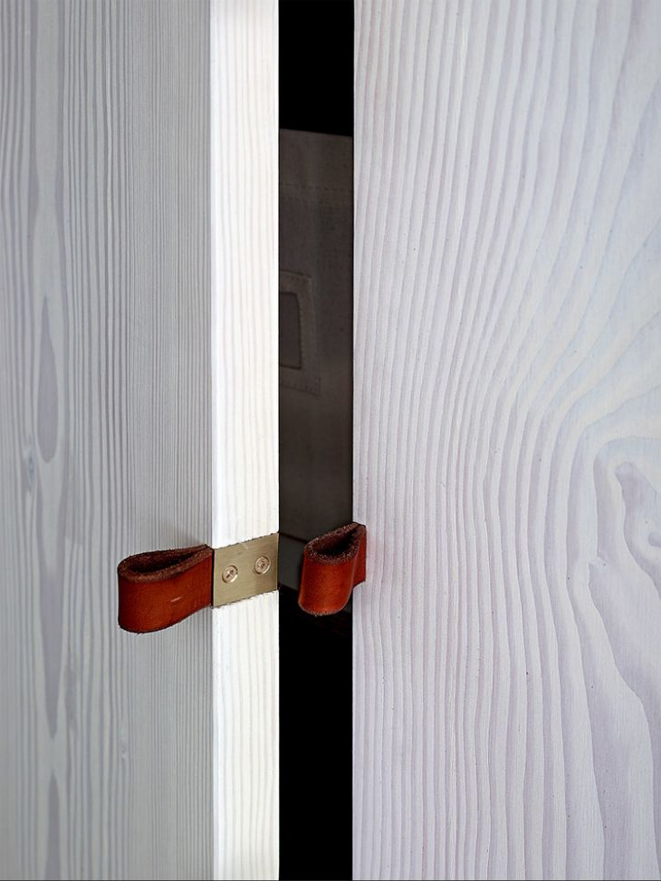 Creative handle for closets, and pantry.. It is all about clean lines