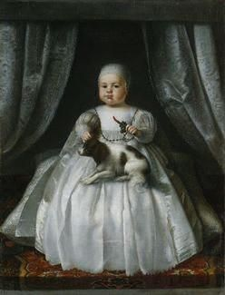King Charles II as a child with his Spaniel