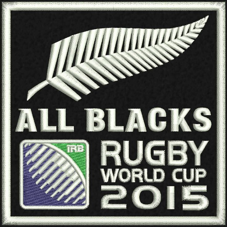 """All Blacks Logo Embroidery Design  4""""x4"""" and 5""""x7"""" by StudioEmbroideryShop on Etsy https://www.etsy.com/listing/526980751/all-blacks-logo-embroidery-design-4x4"""
