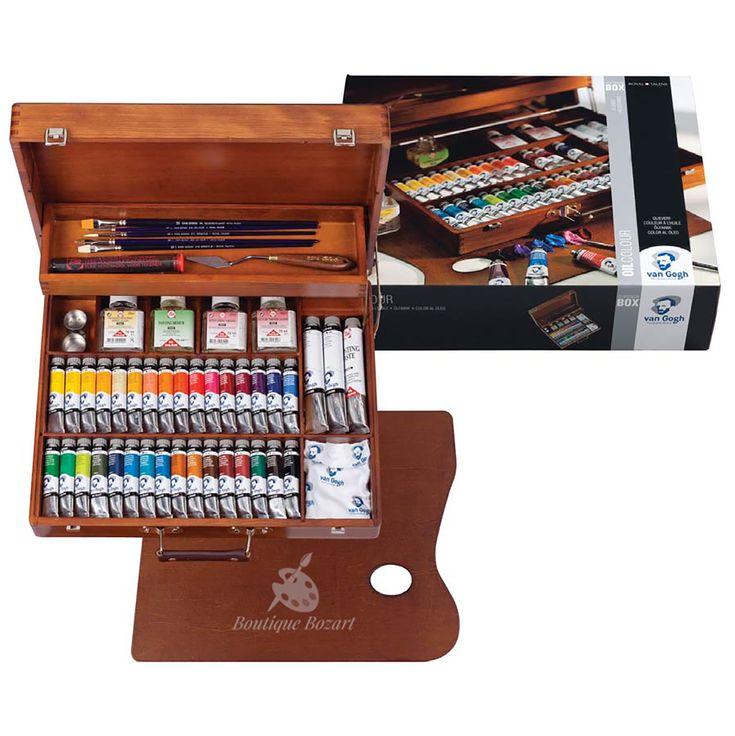 Coffret en bois de peinture à l'huile Van Gogh SUPERIOR