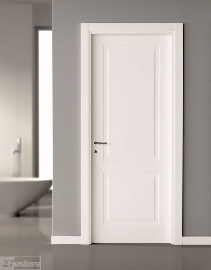 simple 2 panel interior door. with a modern styled home I think either a 2 panel door or a flush door looks best, though in a pinch there are some great 5 - 6 panel doors that could work as well. but for me it's always best to keep it simple.