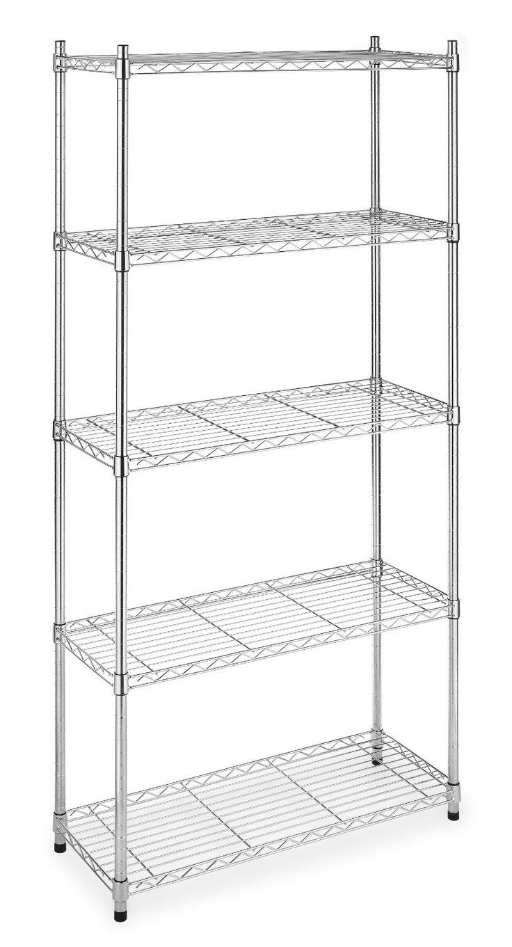 40% Off Whitmor 6060 267 Supreme 5 Tier Shelves, Chrome