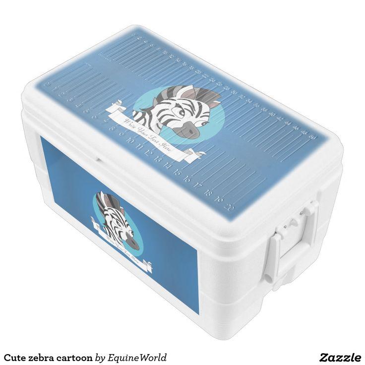 Cute zebra cartoon igloo ice chest
