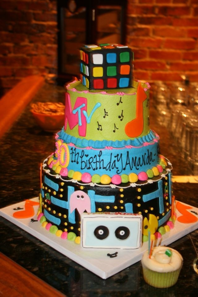 56 Best 80 S Cake Images On Pinterest Anniversary Cakes