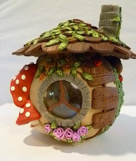 OOAK colección de hadas casa vela titular por BingleBanglesbyDawn