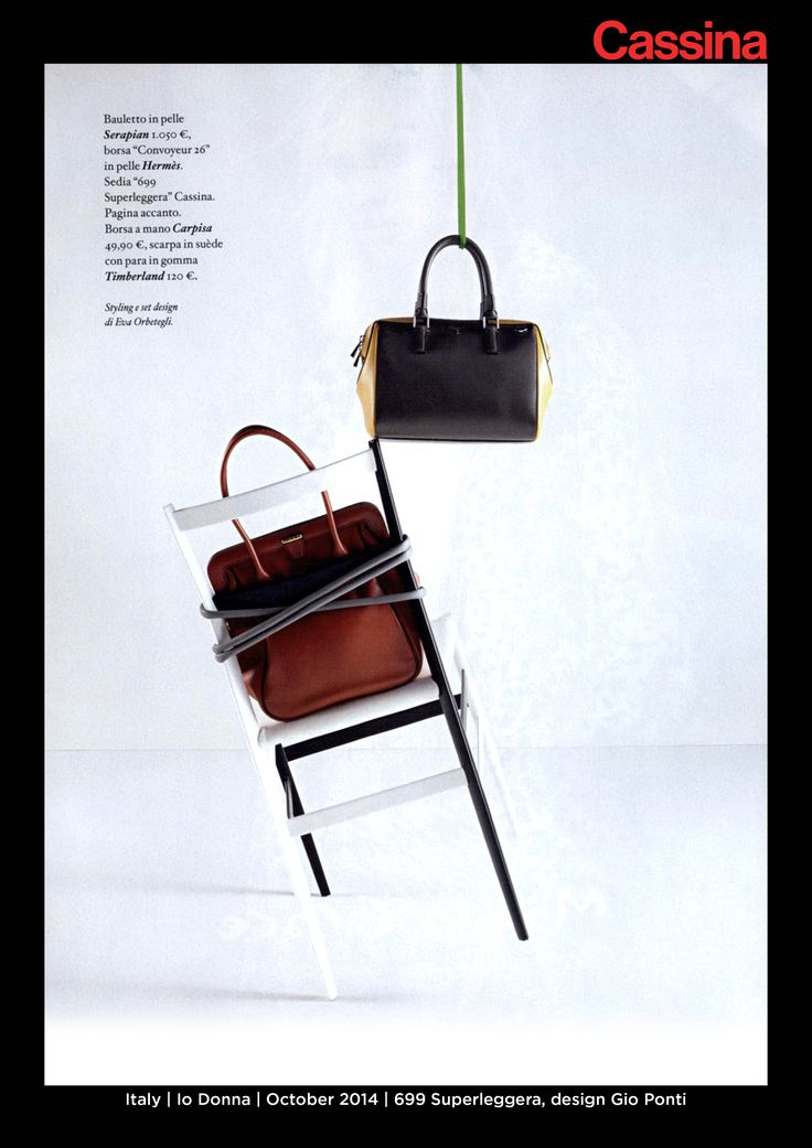 Italy | Io Donna | October 2014 | 699 Superleggera, design Gio Ponti | Discover more on:http://cassina.com/it/collezione/sedie-e-poltroncine/699