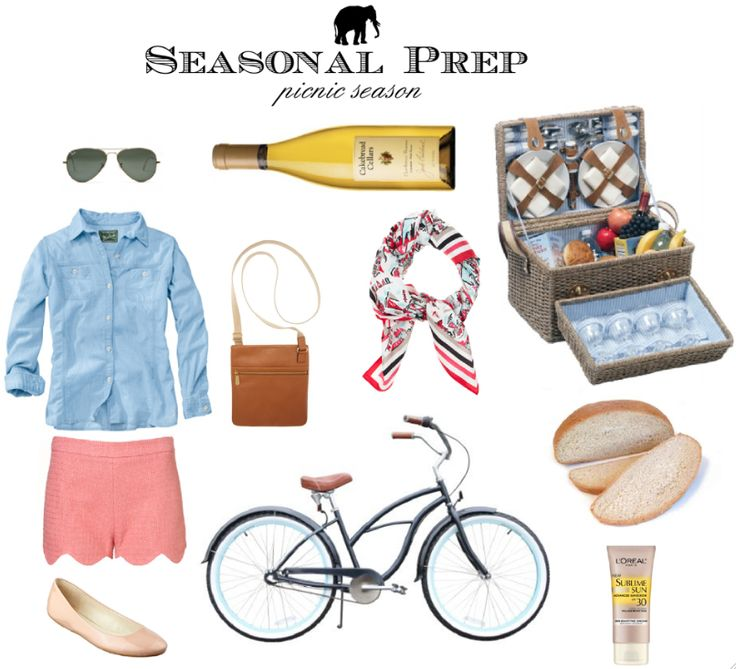Southern Charm: Bike, Summer Outfit, Southern Charms, Seasons Prep, Preppy Picnics, Picnics Gears, Accessories, Clothing Fashion, Picnics Seasons