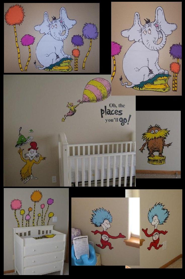 Dr Seuss room Murals Baby Decor