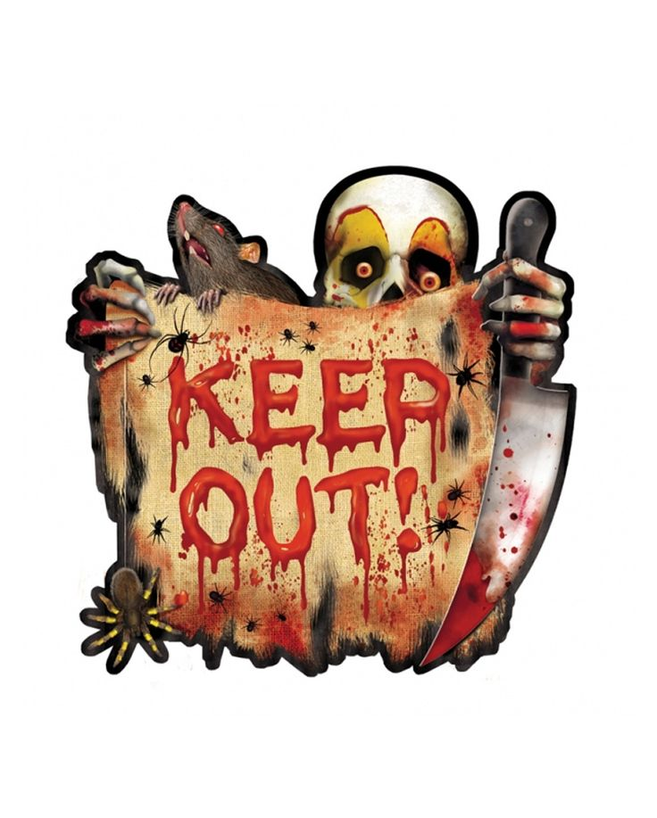 KEEP OUT free trailer   Halloween Party Decorations   horror-shop.com