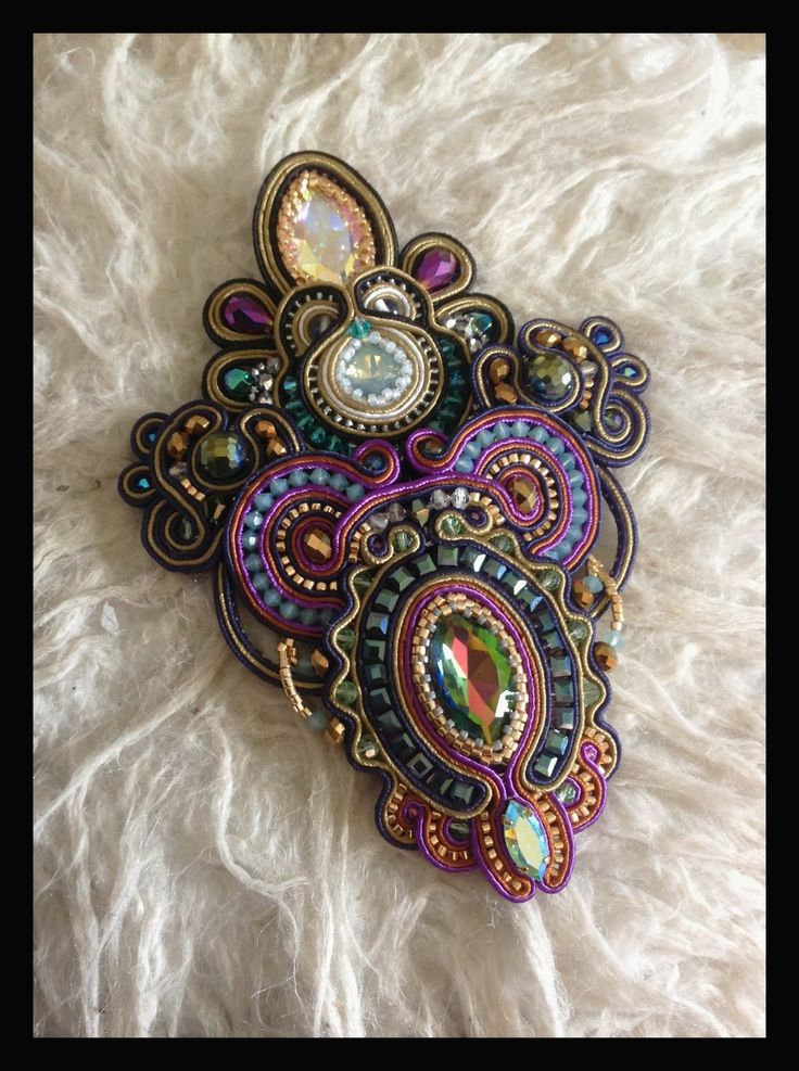 Haute couture soutache work by Amytea.deviantart.com on @deviantART
