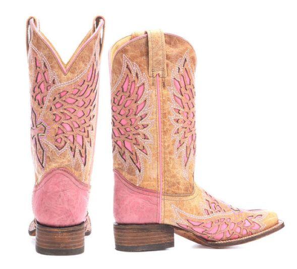 Corral Pink & Tan Cowboy Boots | Horses & Heels