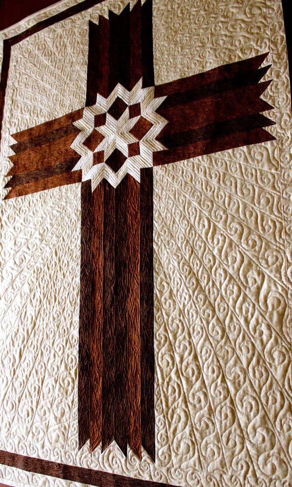 Cross Quilt Carpenters' Star Cross Queen / King by QuiltPatterns