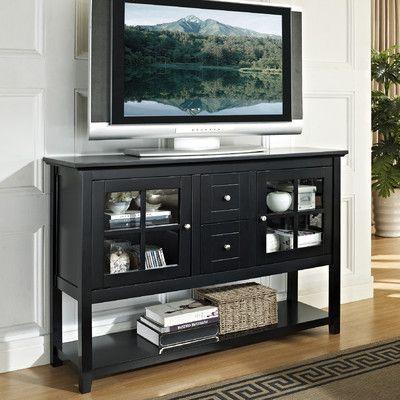 "Slim TV stand for living room--16"" deep Home Loft Concept 52"" TV Stand   Wayfair"