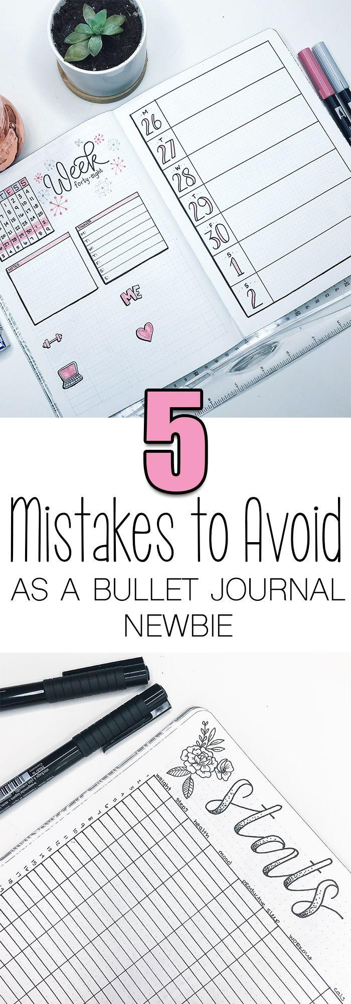 Top 5 Bullet Journal Mistakes 'Newbies' Make