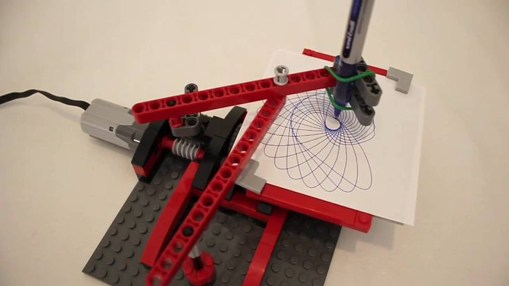 My Spirograph style LEGO drawing machine drawing 5 patterns, including a 'dual' pattern design. You can watch the full video, explaining how it works here: h...