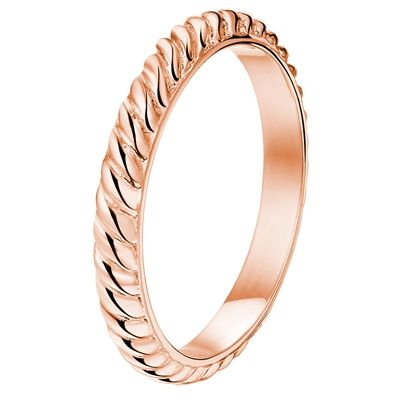 Stalen rose plated ring (1019014)