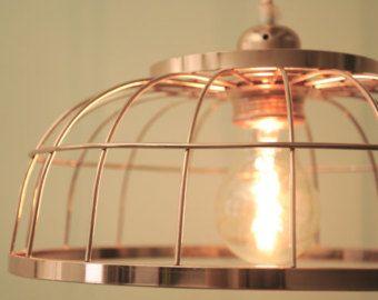 Gabbia di rame sospensione - filo appeso illuminazione moderna lampada - lampada a sospensione - Illuminazione industriale - design leggero - 2016 tendenza - #CP0011