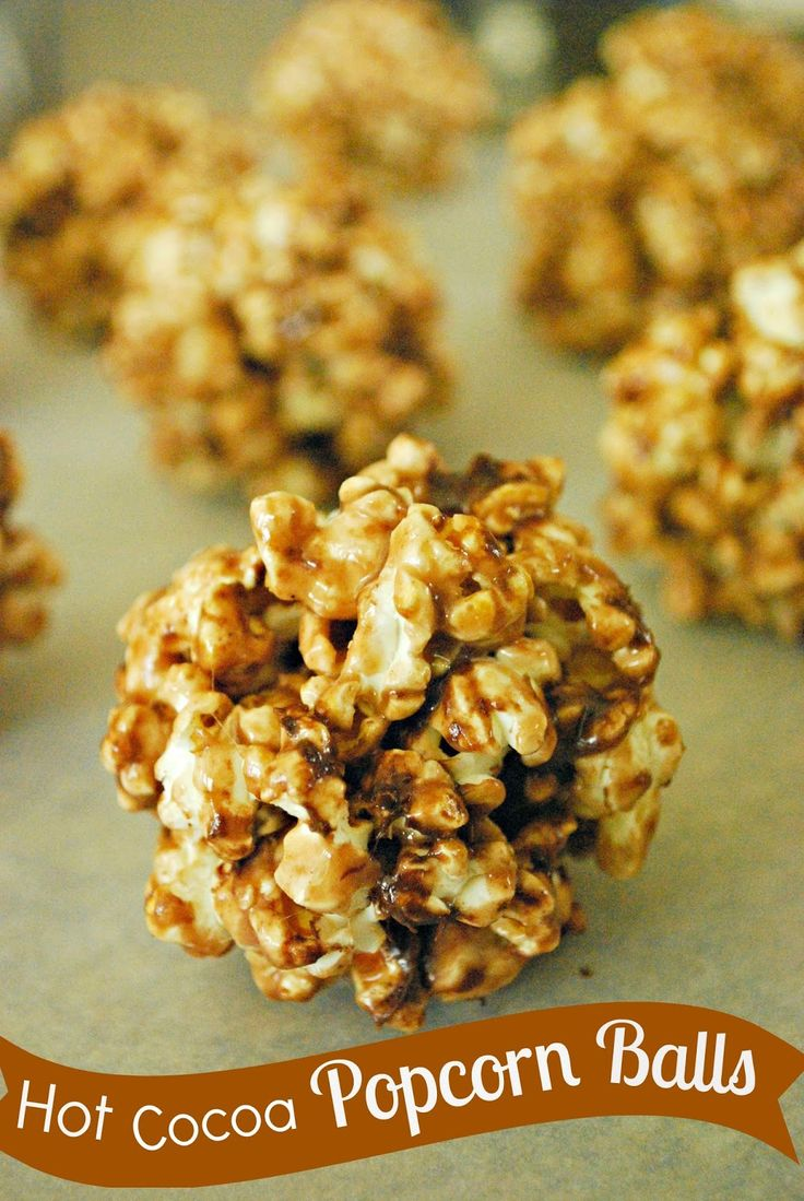 These Hot Cocoa Popcorn Balls have a great chocolaty flavor and are ...