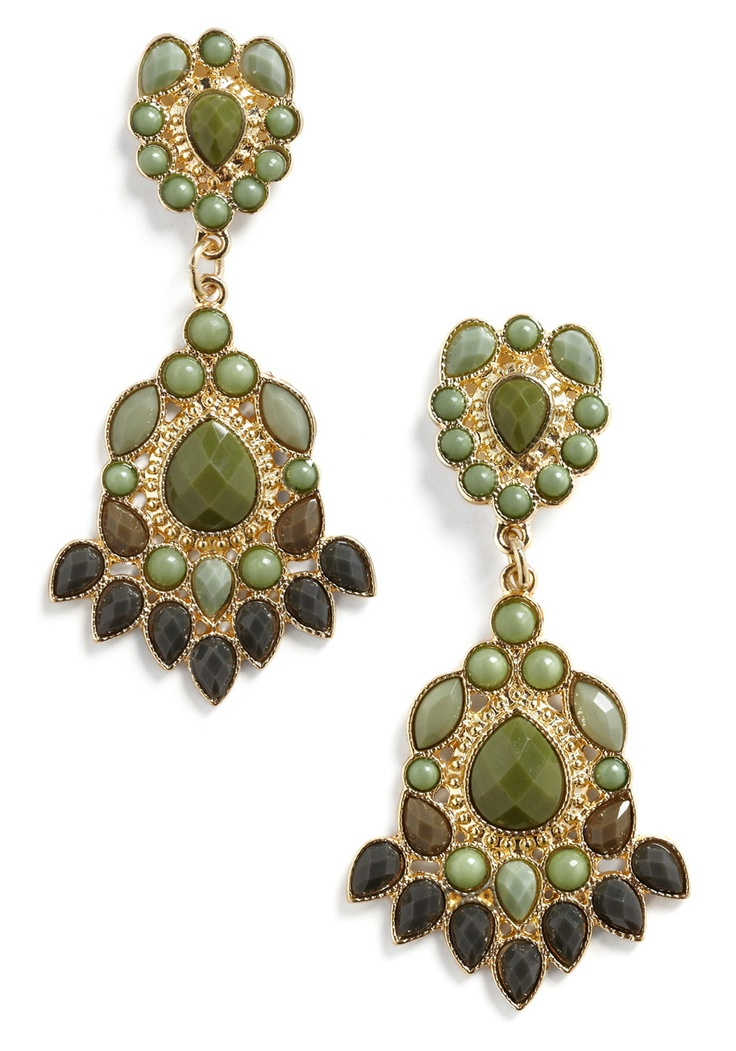 modcloth Special Jewelry Box Earrings $17.99Green Earrings, Boxes Earrings, Vintage Earrings, Style Earrings, Style Pinboard, Gorgeous Gold, Special Jewelry, Colors Inspiration, Jewelry Boxes