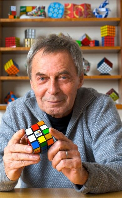 Erno Rubik, the Hungarian engineer, inventor of the world famous Rubik's cube. The Rubik's Cube has been 40 years now.
