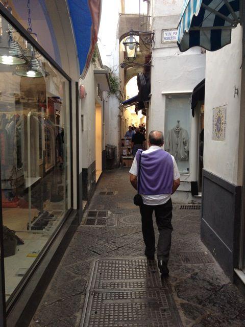 Capri shopping