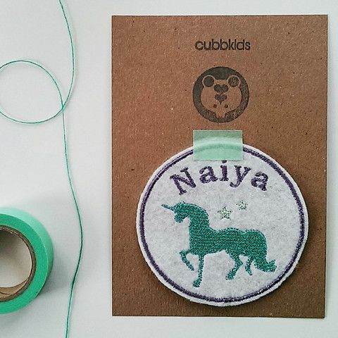 Personalised Embroidered Name Patch. Custom Name Patch. Unicorn Embroidery. Unicorn Patch. Personalized Patch.