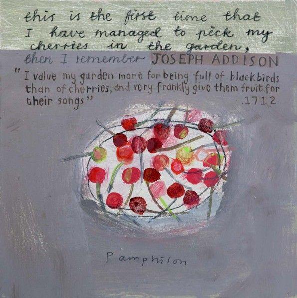 I Value My Garden by Elaine Pamphilon | Mixed media on wooden panel | 30 x 30 cm #elainepamphilon #tannerandlawson #stilllife