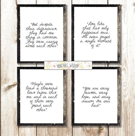 The Notebook Quote, would love to have this on my bedroom wall!