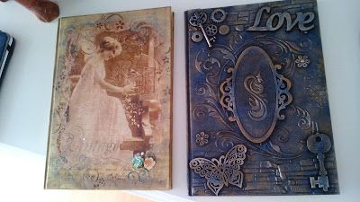 something to create: Decoupage on Notebooks