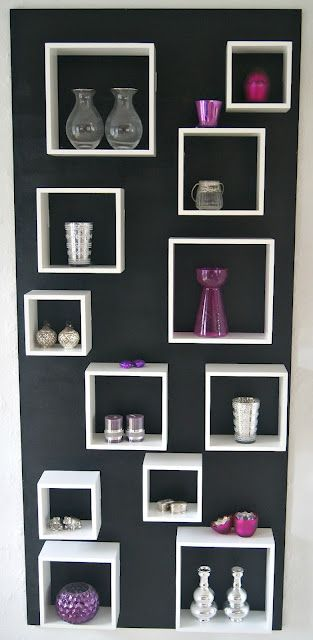 Decor idea - boxes of display - DIY ~ could cut cardboard boxes like this & paint