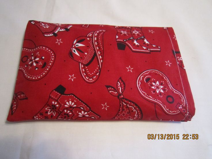 Red Cowboy Bandana* SMALL Cozy Comforts (filled with Flax Seed) Heat and Cold Packs (Unscented or Lavender) by ShawnasSpecialties on Etsy