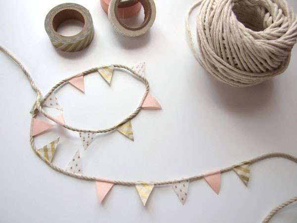 Bunting is one of the easiest DIY decor projects you can make for a wedding. Depending on how comfortable you are in a craft room and with colors, you can