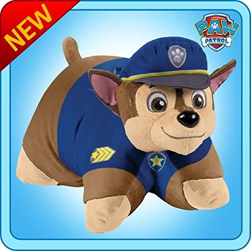 Paw Patrol Pillow Pets!  Chase Pillow Pet. How Cute.